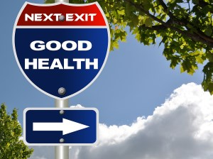 Road sign that says Good Health