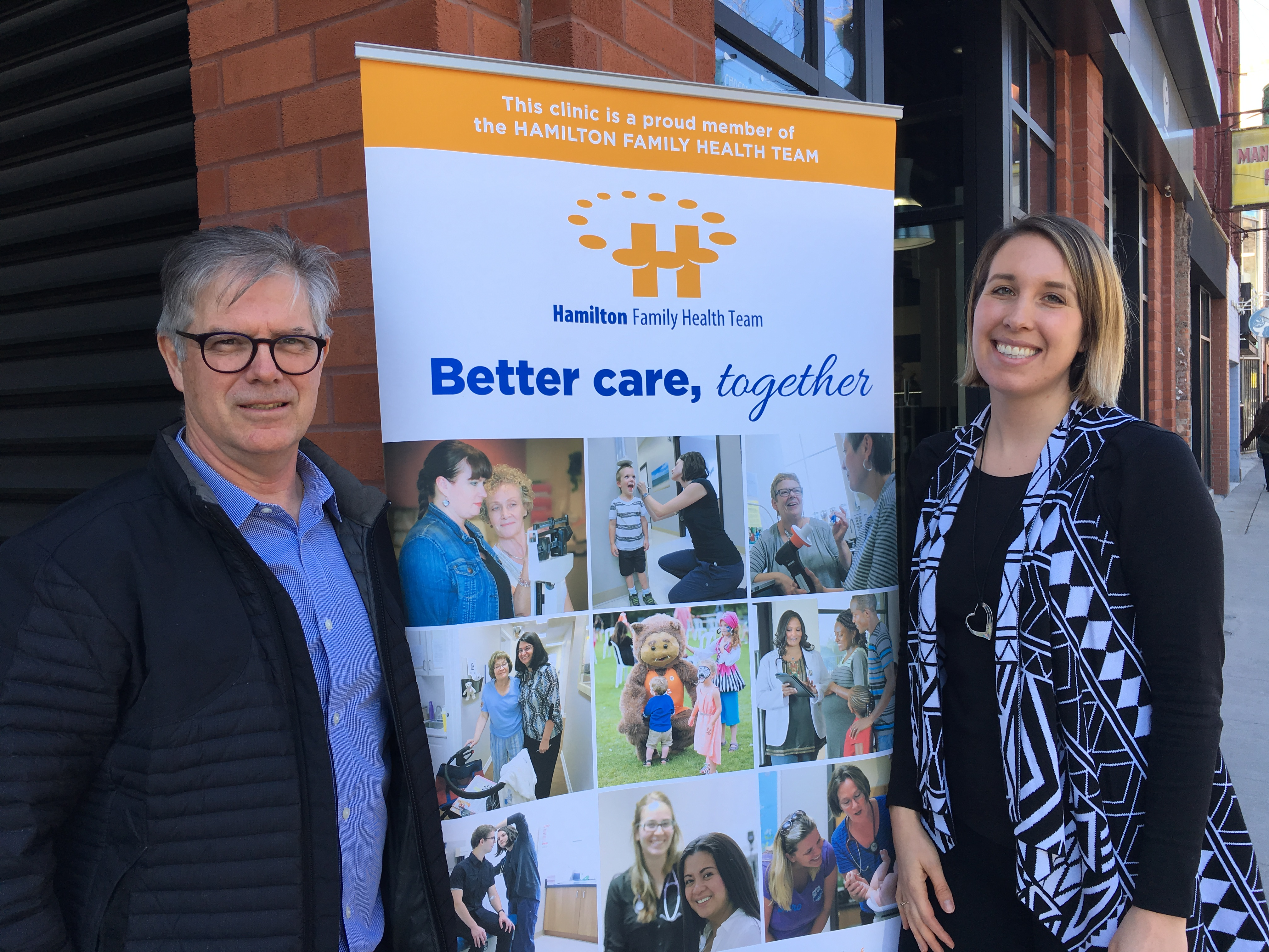 Dr. Michael Pray and Vanessa Foreman, members of the HFHT Choosing Wisely Committee